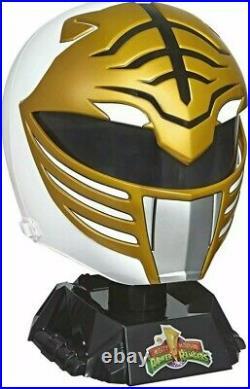 White Ranger WEARABLE HELMET Power Rangers Lightning Collection Premium