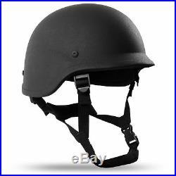 X-Large Black PASGT Level IIIA Military Bulletproof made with Kevlar Combat Helmet
