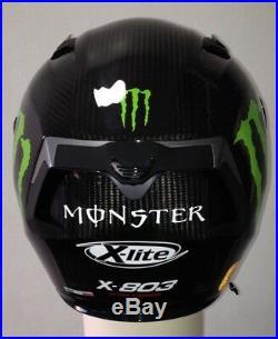 X-Lite X803 CARBON Puro Gloss MONSTER Stickers FREE Dark Visor Motorbike Helmet